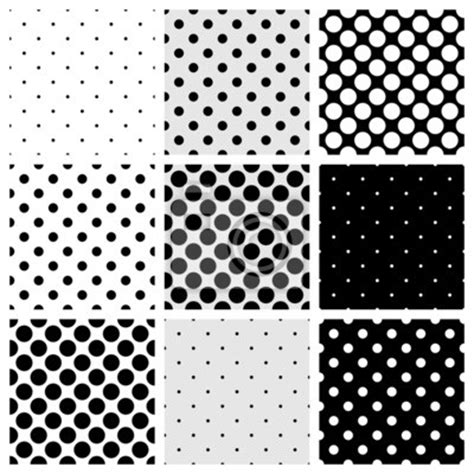 papier peint seamless vector black white grey polka dots