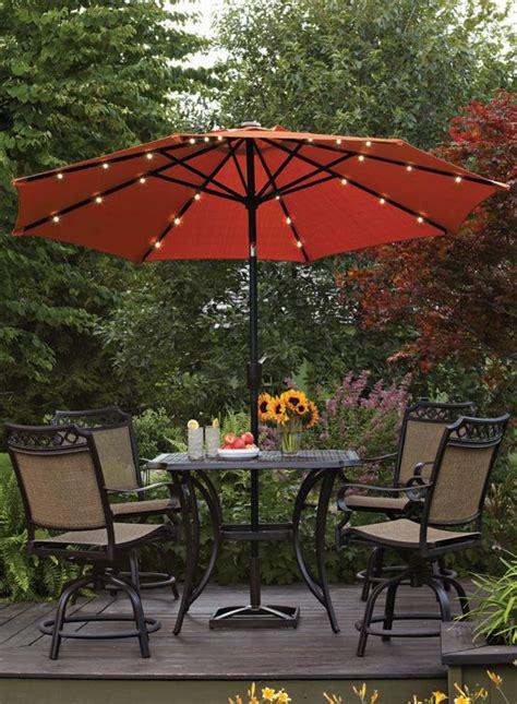 Umbrella Backyard by Better Homes And Gardens 9 Umbrella With Solar
