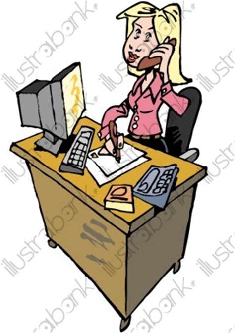 bureau de la directrice une secrétaire illustration au bureau libre de droit sur