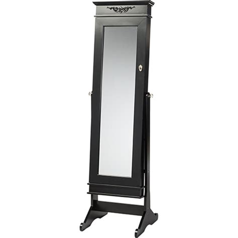 Black Standing Mirror Jewelry Armoire by Bimini Free Standing Mirror Jewelry Armoire Black Dcg