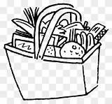 Coloring Drawing Clipart Tray Pantry Meal Pinclipart sketch template