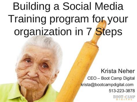 social media certificate programs 7 steps to building a social media program
