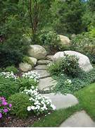 Landscape Walkway Garden Pictures LandscapeAdvisor Landscaping Low Water Landscaping And Drought Tolerant Garden Gardens Gravel Paths Rivers Rocks Gardens Paths Garden Paths 32 Amazing Pebble Garden Paths DigsDigs