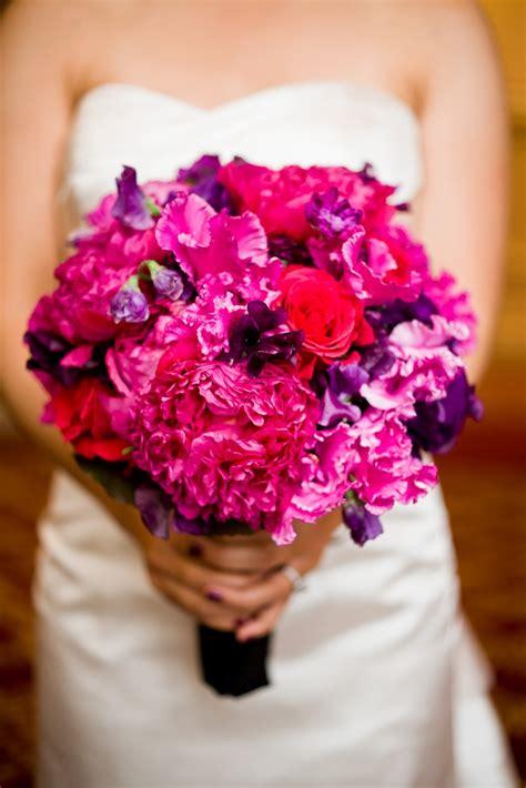 Magenta Bouquet Wedding Flower Design Pinterest