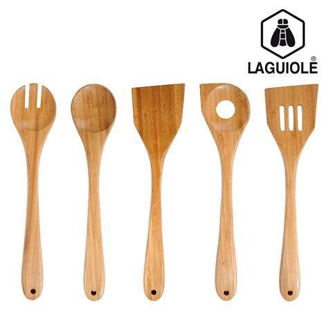 pot pour ustensile de cuisine set de 5 ustensiles de cuisine en bambou laguiole