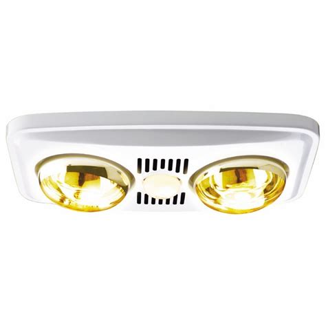 Bathroom Heat And Light by Hpm 3 In 1 Bathroom 2 Heat Fan Light White Bunnings