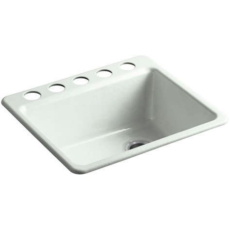 single bowl cast iron kitchen sink kohler riverby undermount cast iron 25 in 5 single 9301