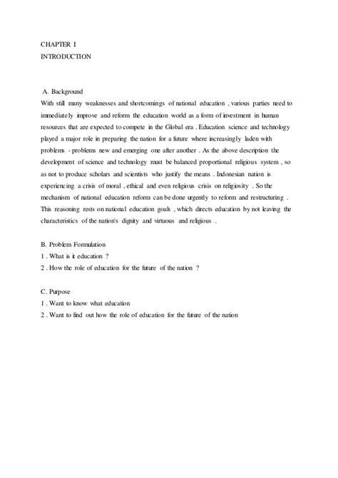makalah bahasa inggris permasalahan pendidikan  indonesia