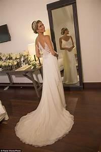 brazilian fashionista helena bordon holds third wedding in With calvin klein wedding dresses