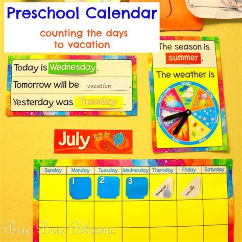 preschool calendar counting the days to vacation brie 980 | Preschool Calendar counting the days to vacation