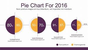 Flat Infographic Charting Elements For Powerpoint Pie