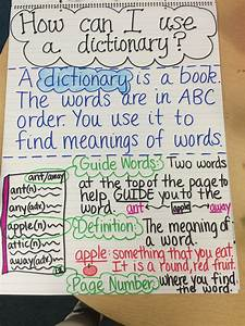 Dictionary Anchor Chart