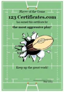 free printable rugby certificates and rugby awards With rugby league certificate templates