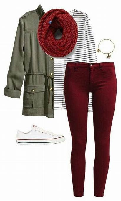 Outfits Converse Outfit Jeans Maroon Fall Casual