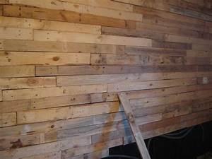 Mur Interieur En Bois De Coffrage : mur en planche de coffrage great salon rsultat final with ~ Premium-room.com Idées de Décoration