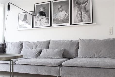 cool scandinavian inspired living room   grey velvet