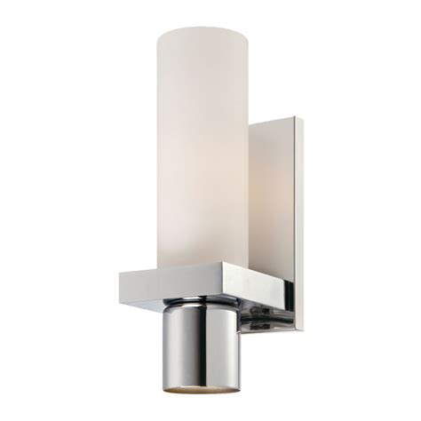 eurofase pillar collection 1 light chrome wall sconce the home depot canada