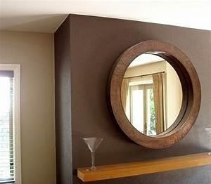Spiegel Holz Rund : braunt ne als wandfarben wie kann man die braunen w nde dekorieren ~ Whattoseeinmadrid.com Haus und Dekorationen