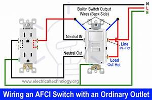 How To Wire An Afci Combo Switch  U2013 Afci Switch Wiring Diagrams