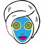 Face Clipart Beauty Mask Icon Daily Facial