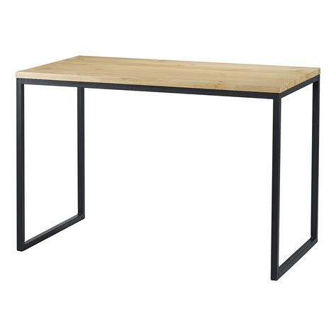 table bureau design table bureau bois et métal 110 cm city grenier alpin