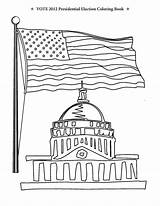 Coloring Election Pages Congress Vote Building Vs Presidential Flag Obama Romney Printable Washington Dc Usa Getcoloringpages Podium sketch template