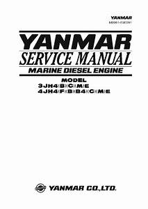 Yanmar 3jh4 4jh4 Marine Diesel Engine Workshop Repair
