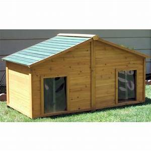 Large dog house plans free woodworking projects plans for Large dog house plans