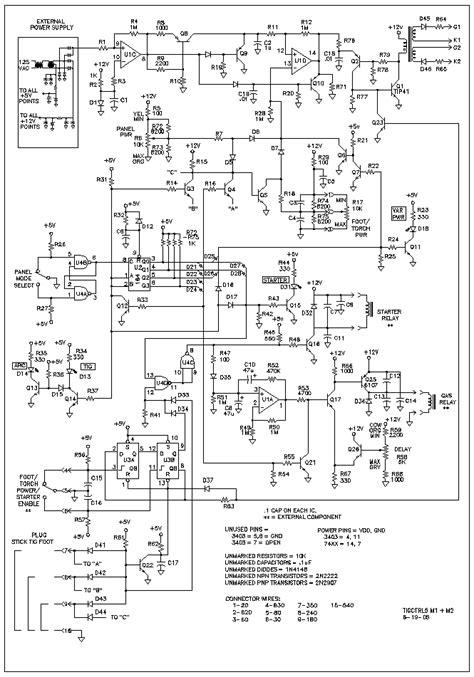 tig welder  power control  repository circuits