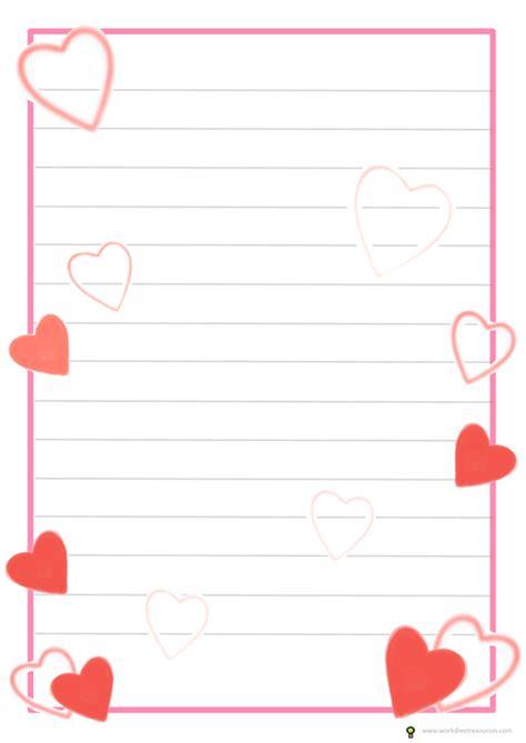 Heart Valentine Card Templates Printable Free