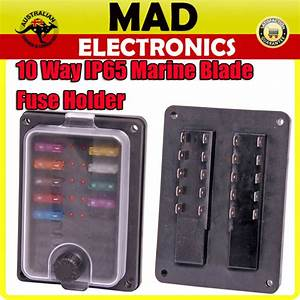 10 Way Weatherproof Ip65 Rated Fuse Holder Box With Led