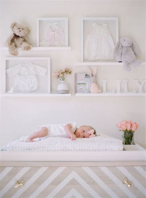 There are 1437926 nursery wall decor for sale on etsy, and they cost 43,22 $ on average. A Blushing Baby Nursery as Pretty as they Come   Blush nursery, Nursery shelves, Baby room shelves