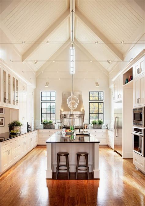 Bright Kitchen, Cathedral Ceilings  Decorating  Pinterest