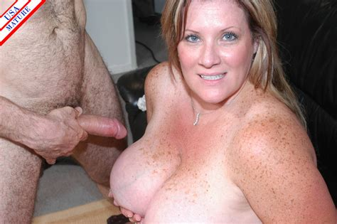 Horny american housewife at play with cock