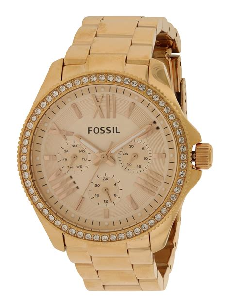 fossil am4483 cecile fossil cecile multifunction gold tone