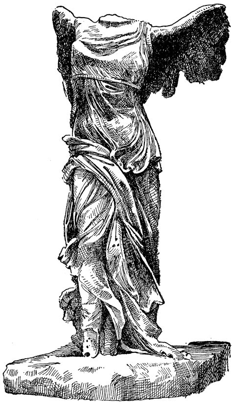winged victory  samothrace clipart