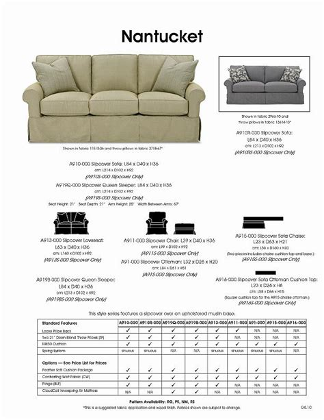 rowe nantucket 84 quot two cushion slipcover sofa belfort