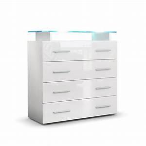 Kommode Weiß 100 Cm Breit : kommode pavos v2 mit praktischen schubladen glasablage ~ Whattoseeinmadrid.com Haus und Dekorationen