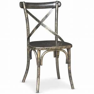 Chaise Metal Pas Cher : chaise en m tal angie bronze achat vente chaise salle a ~ Dailycaller-alerts.com Idées de Décoration