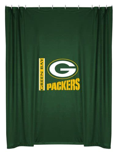 nfl green bay packers shower curtain home garden bathroom