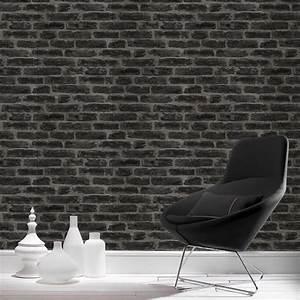 Papier Peint Noir Et Doré : papier peint intiss industry noir leroy merlin ~ Melissatoandfro.com Idées de Décoration
