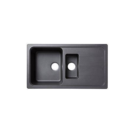 cooke and lewis kitchen sinks cooke lewis arber 1 5 bowl black composite quartz sink 8328