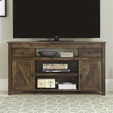 Airia Desk And Media Cabinet by Rustic Entertainment Center Tv Stand Media Console Table