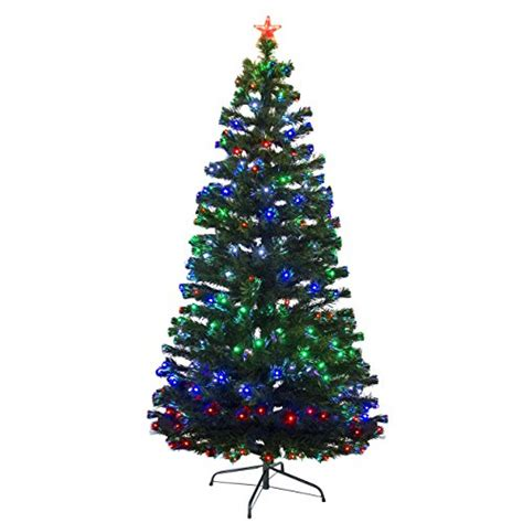 best artificial christmas trees with led lights best choice products pre lit fiber optic 7 green