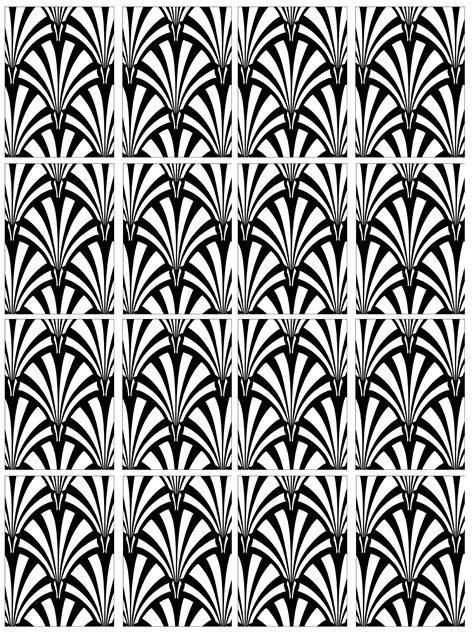 Jugendstil Kleurplaat by Free Coloring Page Coloring Motif Deco 2