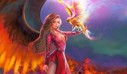 Phoenix Fantasy Bird Angel Wallpapers Wings Background