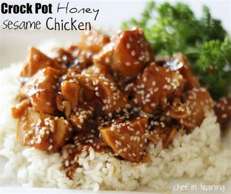 easy chicken breast crock pot recipes asian honey sesame chicken crock pot keeprecipes your universal recipe box