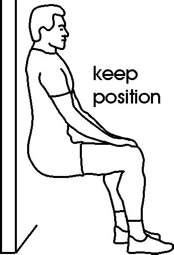 chaise musculation wall sit