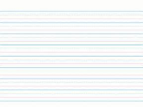 Dotted Line Writing Paper Template