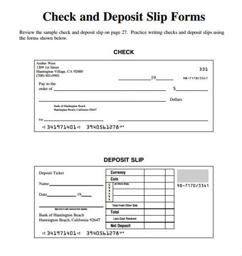 checking deposit slip template slip template 13 free word excel pdf documents free premium templates